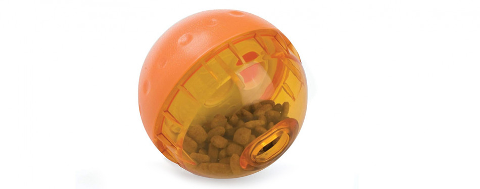 our pets food dispensing dog toy