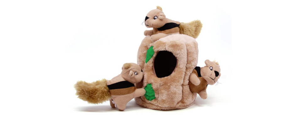 outward hound plush dog toy