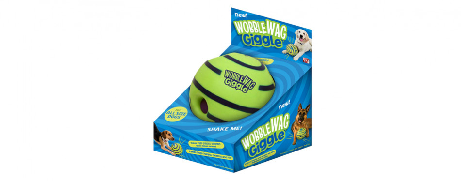 wobble wag dog ball toy